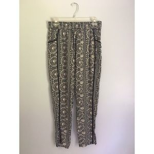 Anthropologie Hei Hei Printed Jogger Rayon Pants